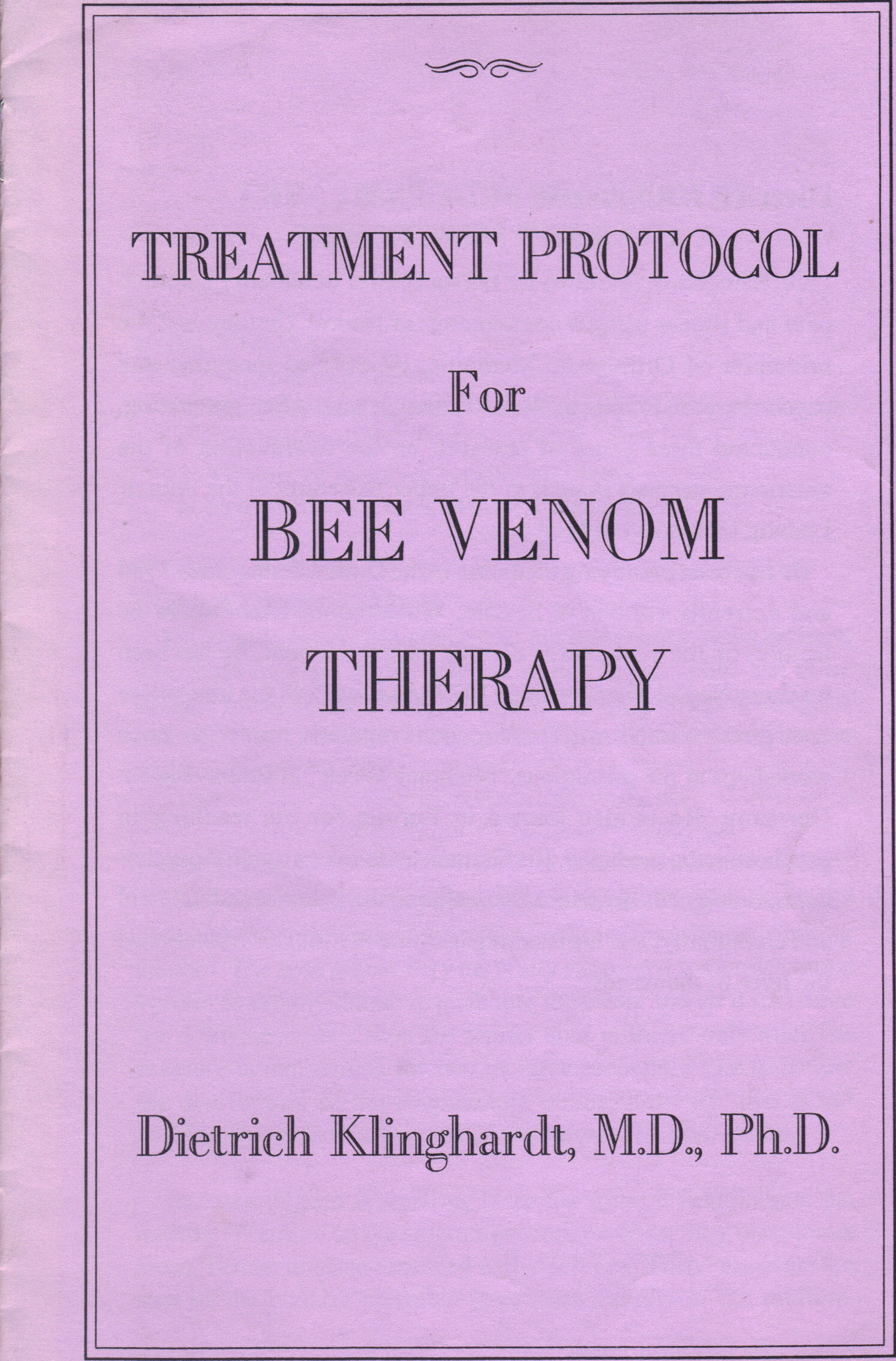 Bee venom Booklets | Apitherapy com