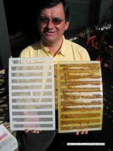 Carlos y su coleccionista chileno de propóleos